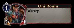 Oni Ronin Token