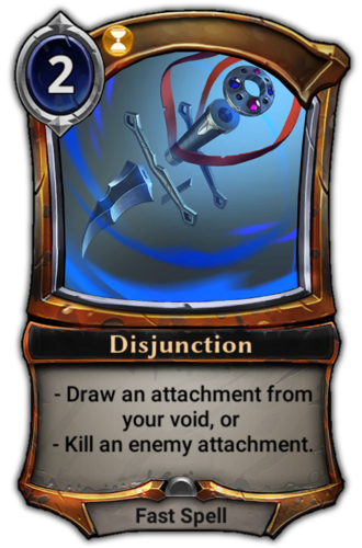 Disjunction card