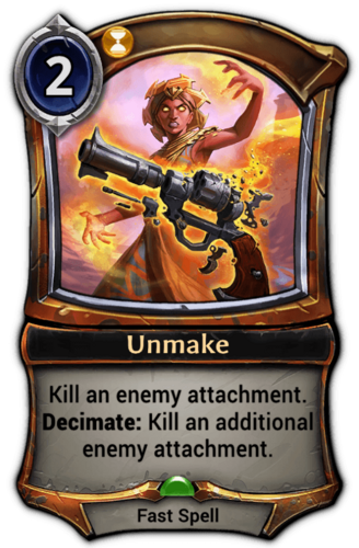 Unmake card