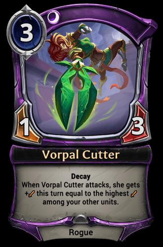 Vorpal Cutter card