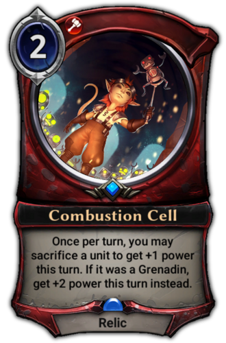 Combustion Cell card