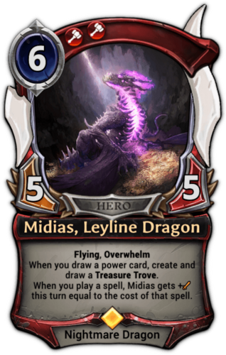 Midias, Leyline Dragon card