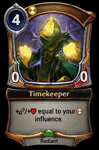 Timekeeper card
