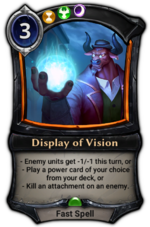 Display of Vision