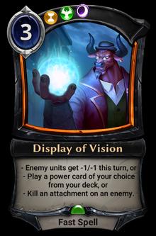Display of Vision