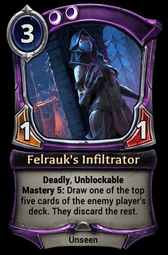 Felrauk's Infiltrator card