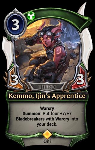 Kemmo, Ijin's Apprentice card