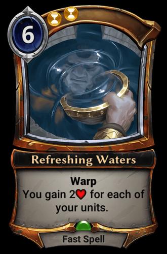 Refreshing Waters card