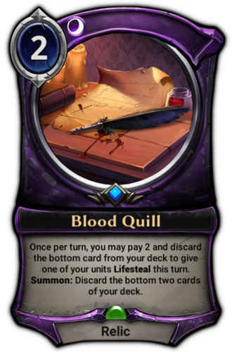Blood Quill card