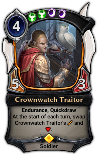 Crownwatch Traitor card
