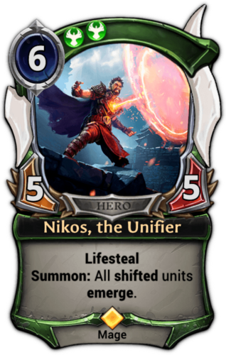 Nikos, the Unifier card