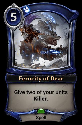 Ferocity of Bear card