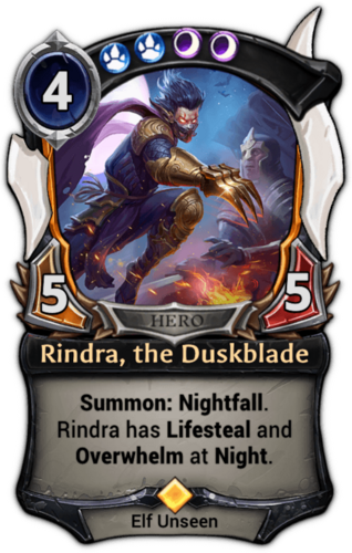 Rindra, the Duskblade card