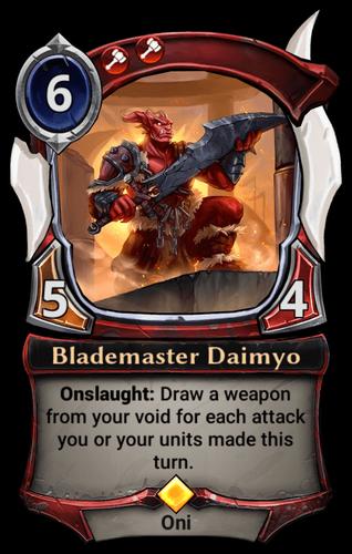 Blademaster Daimyo card