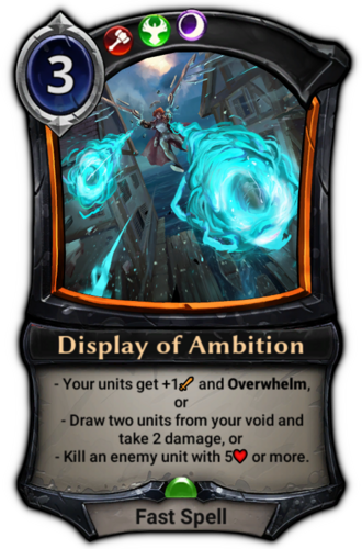 Display of Ambition card