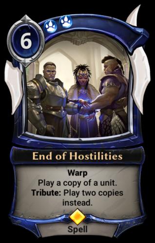 End of Hostilities card