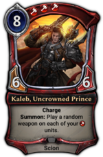 Kaleb, Uncrowned Prince (campaign version)