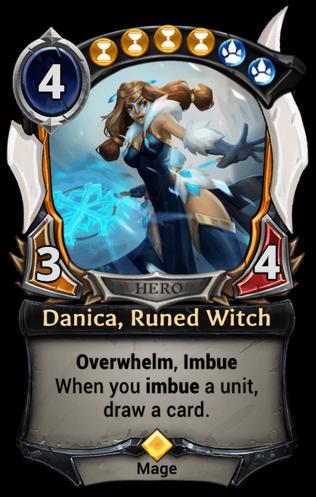 Danica, Runed Witch card