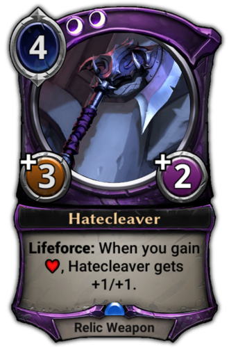 Hatecleaver card