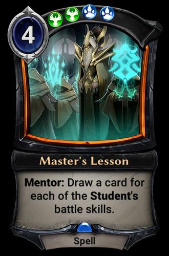 Master's Lesson card
