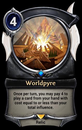 Alternate-art Worldpyre card