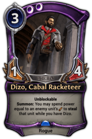 Dizo, Cabal Racketeer