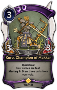 Kuro, Champion of Makkar
