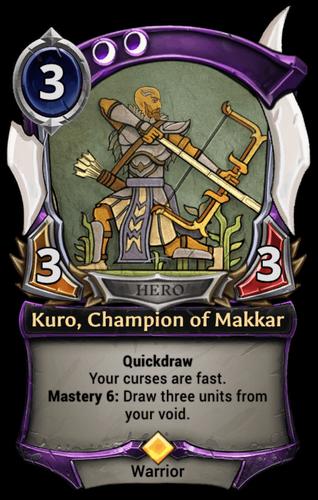 Kuro, Champion of Makkar card