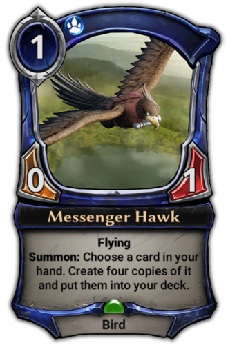 Messenger Hawk card