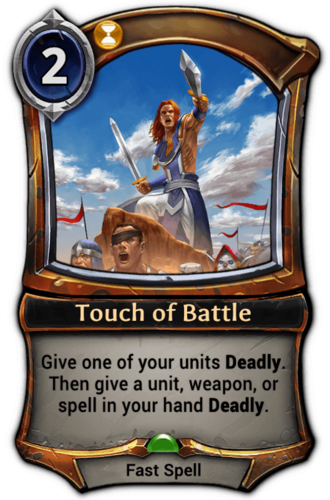 Touch of Battle card