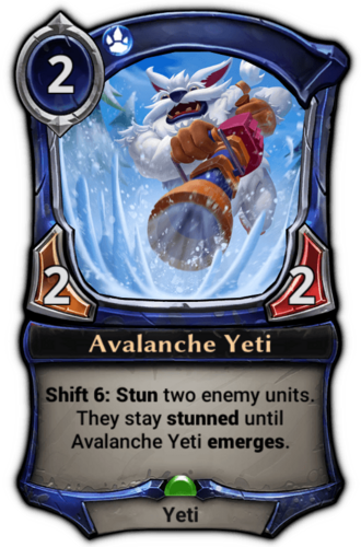 Avalanche Yeti card