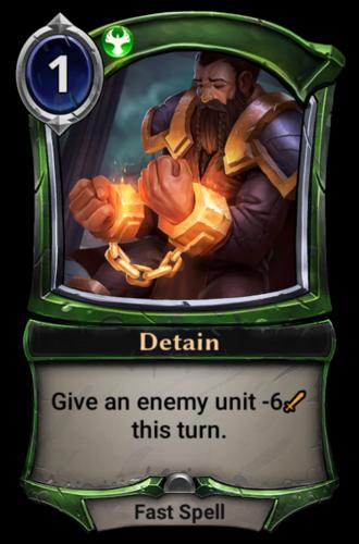 Detain card