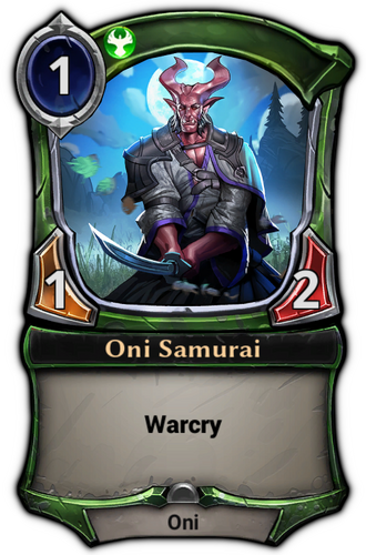 Oni Samurai card