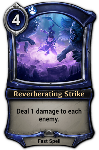 Reverberating Strike card