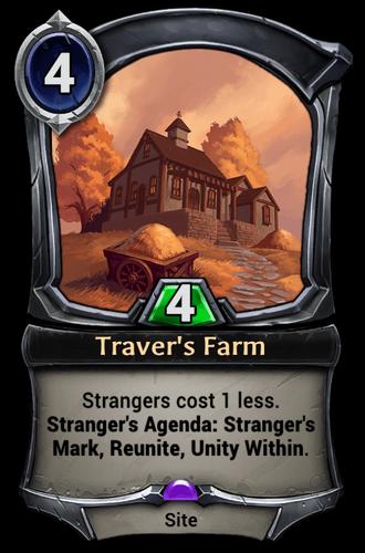 Traver's Farm card