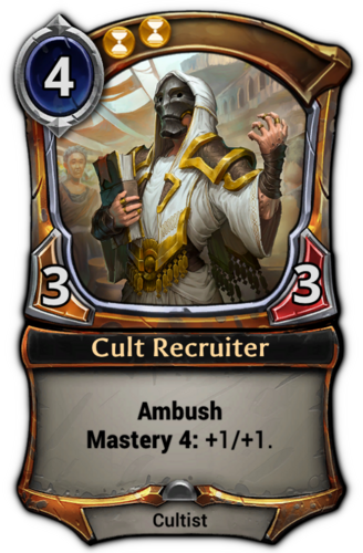 Cult Recruiter card