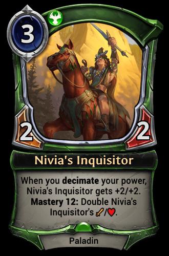 Nivia's Inquisitor card