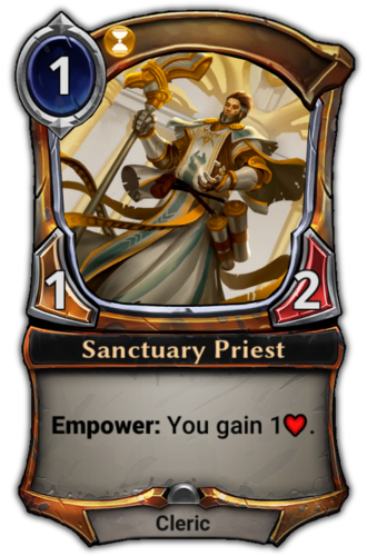 Sanctuary Priest card