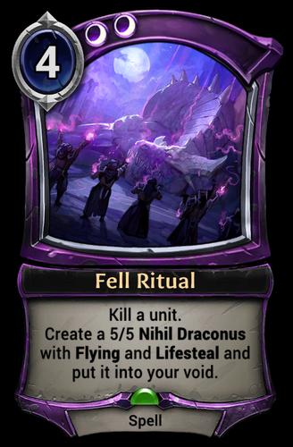 Fell Ritual card