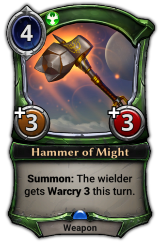Hammer of Might card
