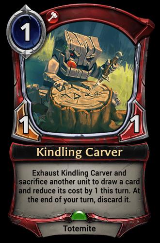 Kindling Carver card