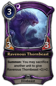 Patch 1.35 version of Ravenous Thornbeast.