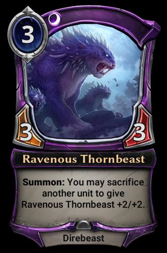Ravenous Thornbeast card
