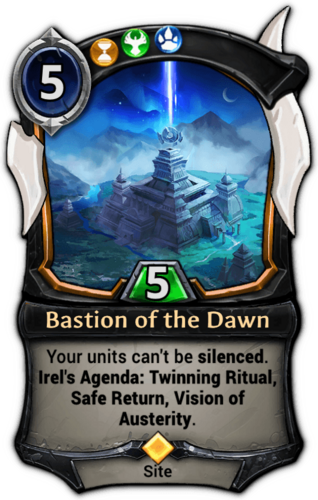 Bastion of the Dawn card