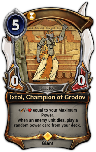 Ixtol, Champion of Grodov card