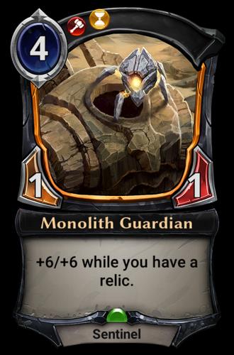 Monolith Guardian card