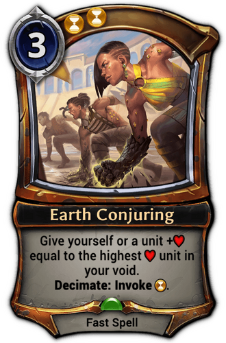 Earth Conjuring card