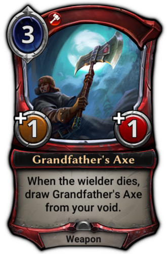 Grandfather's Axe card