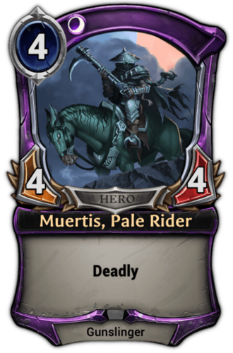 Muertis, Pale Rider card