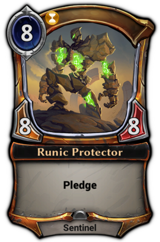 Runic Protector card